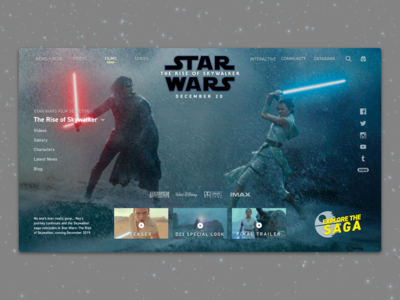 #1 - Website: Star Wars: The Rise of Skywalker Landing Page