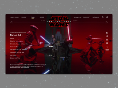 #2 - Website: Star Wars: The Last Jedi Landing Page