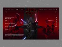 #1.2 - Website: Star Wars: The Last Jedi Landing Page