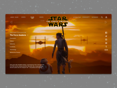 #3 - Website: Star Wars: The Force Awakens Landing Page