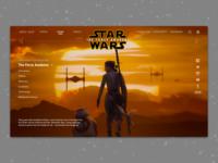 #1.3 - Website: Star Wars: The Force Awakens Landing Page
