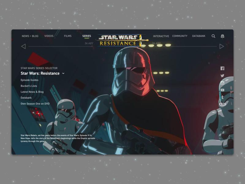 #1.4 - Website: Star Wars: Resistance Landing Page