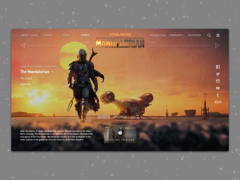 #1.5 - Website: Star Wars: The Mandalorian Landing Page