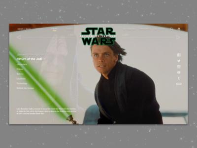 #1.6 - Website: Star Wars: Return Of The Jedi Landing Page