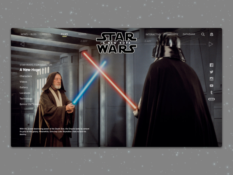 #1.8 - Website: Star Wars: A New Hope Landing Page