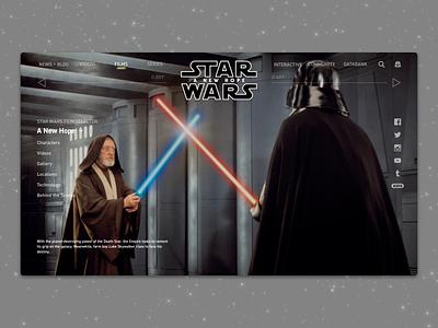 #1.8 Shots for Practice |  Star Wars: A New Hope sketch logo design disney movie a new hope star wars website web landing landing page typography redesign illustration branding responsive design clean ux ui minimal