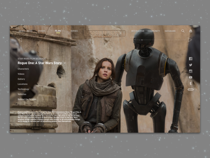 #1.9 - Website: Rogue One: A Star Wars Story Landing Page