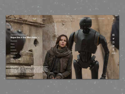#1.9 Shots for Practice |  Rogue One: A Star Wars Story landscape redesign website web sketch rogue one star wars landing landing page branding responsive design ui clean ux minimal