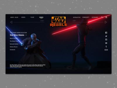 #1.10 - Website: Star Wars Rebels Landing Page