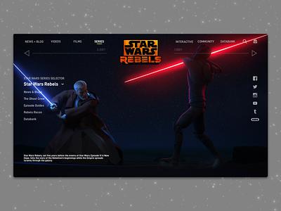 #1.10 Shots for Practice | Star Wars Rebels landing tv series animation rebels star wars sketch web website illustration branding landing page responsive design clean ux ui minimal