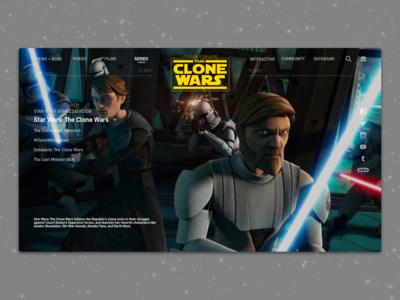 #1.13 - Website: Star Wars: The Clone Wars Landing Page