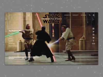 #1.15 - Website: Star Wars: The Phantom Menace Landing Page