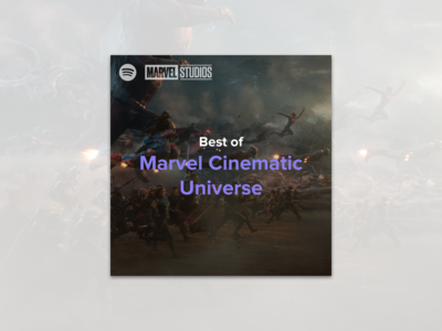 #8 - Album Cover: Best of MCU Spotify Playlist