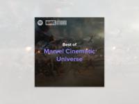 #8 - Album Cover: Best of MCU Spotify Playlist