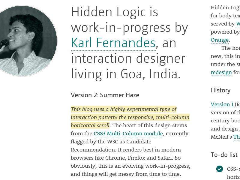 Hidden Logic 2014: About Page blog hidden logic