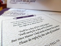 Paper Detail: Our Wedding Invites