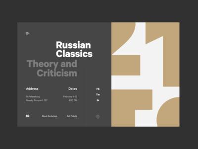 Homepage: Header concept