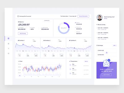 Cryptocurrency app dashboad design web fireart fireart studio ux ui