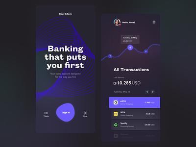Banking app design concept fireart fireart studio ux ui