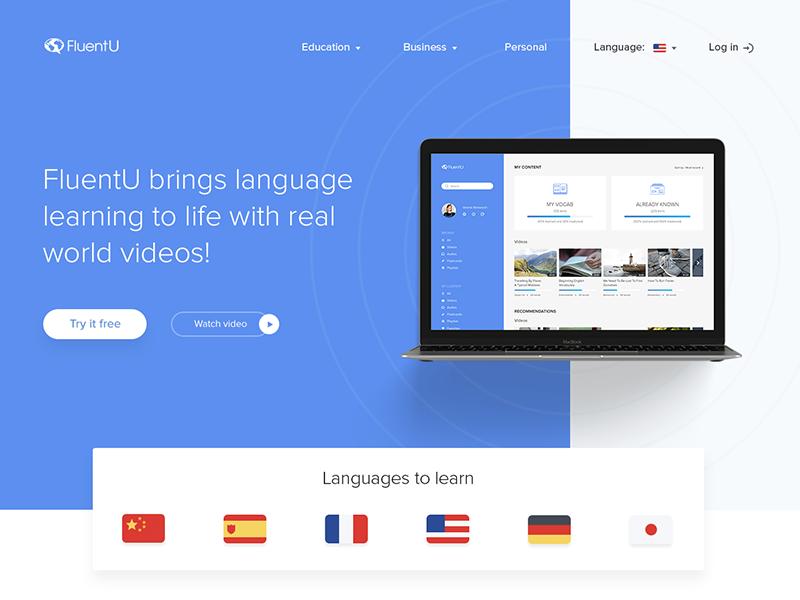 FluentU redesign learning fireart studio fluentu webdesign ux ui redesign fireart