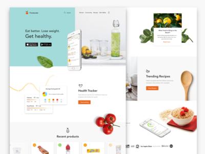 Fooducate redesign redesign main page landing page app fooducate fireart studio fireart ux ui web