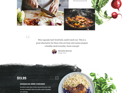 HealthyCart delivery landing health delivery web concept food fireart studio fireart ux ui main page