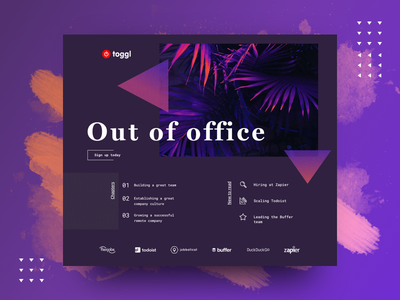 Toggl blog dark ui ux ui home page toggl fireart studio fireart blog