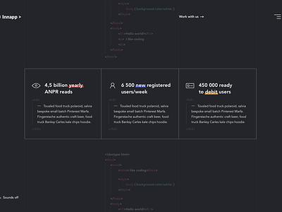 Innapp website innapp animation developer coding black ui main page landing page web ux fireart fireart studio
