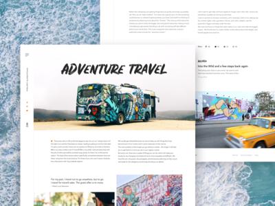 Travel article fireart studio fireart concept traveling blog article ux ui