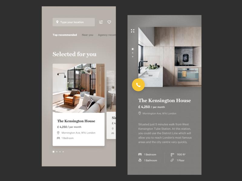Booking app booking apartment app renting typography design app concept fireart studio fireart ux ui