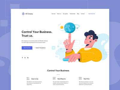 Landing page vector character landing page design illustration main page concept web fireart studio ux fireart ui