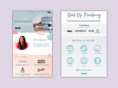 Let's Start Up Ventures - web page design creative agency mobile layout ui ux webpage design web page design web design design branding
