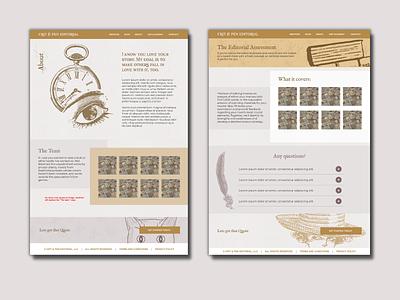 Crit & Pen - website design publisher author ux ui website design graphic design design web design branding