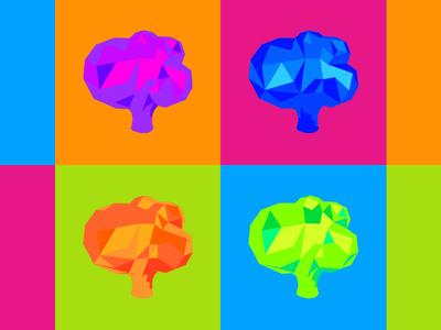 Brokoli Labs popart icon branding logo