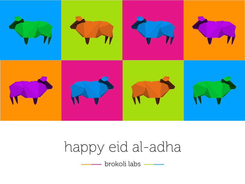 Happy eid al-adha lamb polygone eid happy