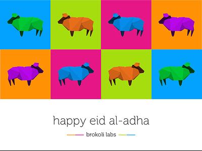Happy eid al-adha lamb polygone eid happy