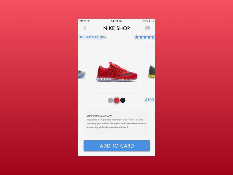 Nike Shop ecommerce air max ux ui designer şahin abdullah dribbble shop nike