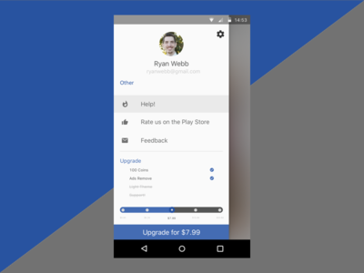 In-App Purchase Screen material design dribbble material design ux ui screen in app purchase