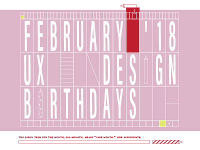February Birthdays typesetting movable graphic