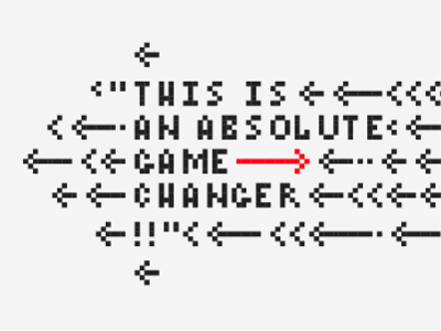 Game Changer arcade pixelated pixel arrows graphic poster game changer typography type