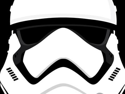 first order stormtrooper helmet by paul barrera dribbble rh dribbble com stormtrooper vector helmet stormtrooper vectoriel