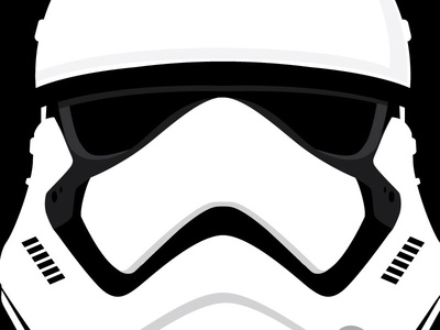first order stormtrooper helmet by paul barrera dribbble rh dribbble com stormtrooper vector png stormtrooper vector art
