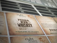 Eight Oaks Penna Rye Whiskey