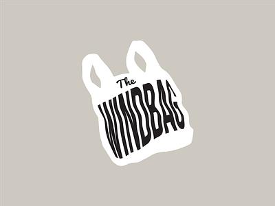 The Windbag satirical satire covenant college newspaper trash bag trash vector flat identity logo