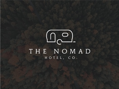 The Nomad Hotel Logo simple clean line serif hotel nomad