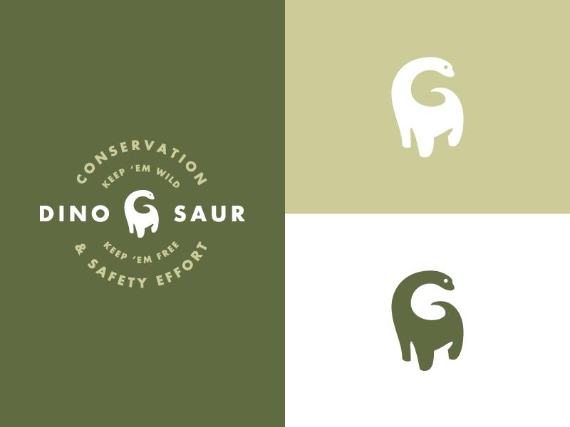 Dinosaur Logo Expanded safety dinosaur color typography branding design logo