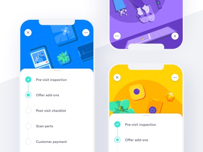 Application Covers like band aid remote card smart home device tv popcorn application checkmark checklist tennis slippers iphone phone repair plants product mobile ux ui illustration