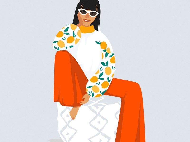 Fashion illustration/girl fashion illustration fashion stylish style adobe illustrator adobe flat illustrator girl illustration girl