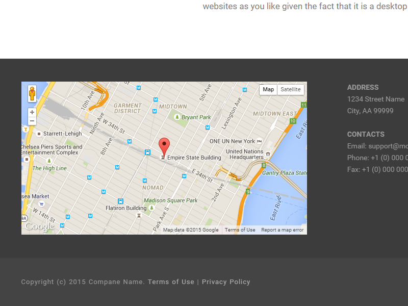 New Footer Block With Google Maps By