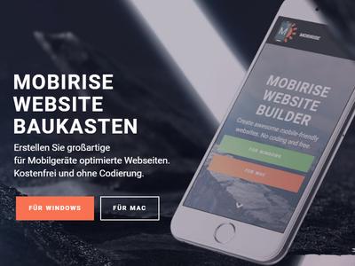 Mobirise 2.11 - New German Webseite!